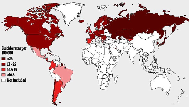 Suicide Death Rate per 100, 000 people of the population